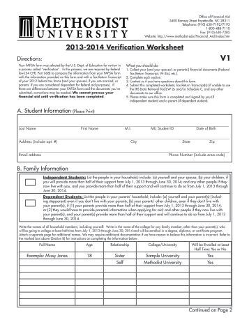 2011 2012 verification worksheet ifap u s department of. Black Bedroom Furniture Sets. Home Design Ideas