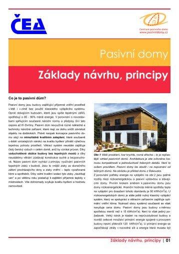Pasivní domy Základy návrhu, principy - MPO Efekt