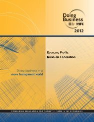 Doing Business: Economy Profile: Russia by World Bank 2012
