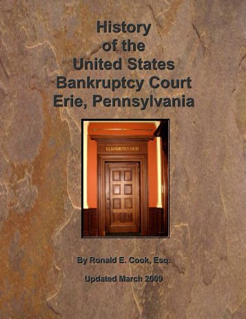 History of the U.S. Bankruptcy Court Erie, Pennsylvania