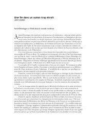 Une île dans un océan trop étroit - Center for Global Studies and the ...