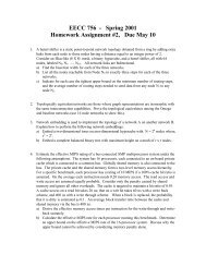 EECC 756 - Spring 2001 Homework Assignment #2, Due May 10