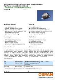 SFH 4236 IR-Lumineszenzdiode (850 nm) mit hoher ... - Beriled