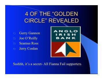 1) Gerry Gannon 2) Joe O'Reilly 3) Seamus Ross 4) Jerry Conlan ...