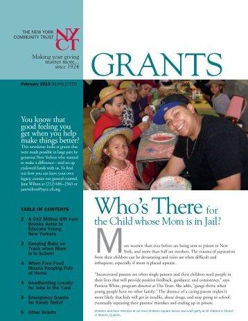 February 2013 Newsletter - The New York Community Trust