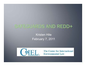 Kristen Hite February 7, 2011 - Rights and Resources Initiative