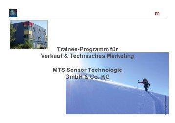 Trainee-Programm für Verkauf & Technisches Marketing MTS ...