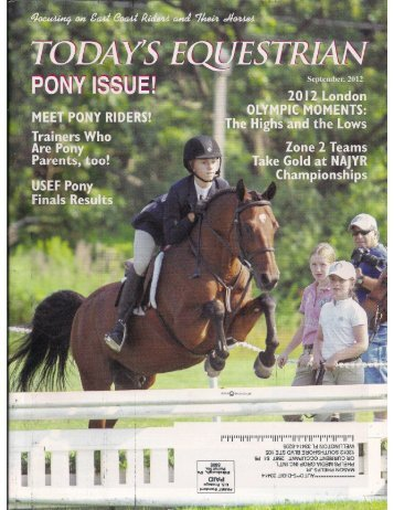 Todays Equestrian - September 2012 - Phelps Media Group