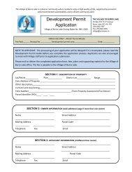 Development Permit Application - Burns Lake