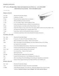 Schedule of Events - North House Folk School