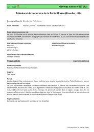 Paléokarst de la carrière de la Petite Morée (Glovelier, JU) - admin.ch