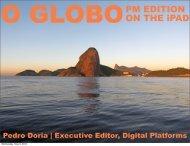 O GLOBOPM EDITION ON THE iPAD