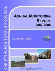 ANNUAL MONITORING REPORT 2007/2008 - Dorsetforyou.com