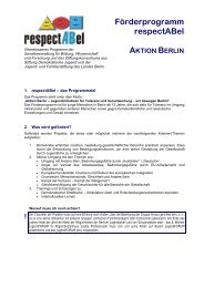 respectABel 2008 - Die Ausschreibung
