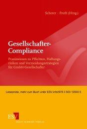 Gesellschafter- Compliance