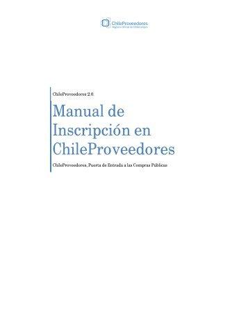 Manual de Inscripción ChileProveedores sin registro previo en ...