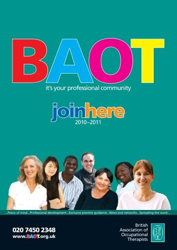 Download BAOT Membership Brochure and Application Form