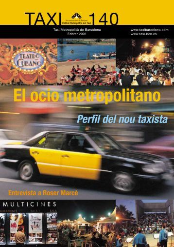 TAXI 140 El ocio metropolitano - Institut Metropolità del Taxi