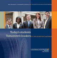 Today's students Tomorrow's leaders - Full Time MBA Programs ...