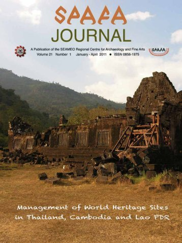 SPAFA JOURNAL Volume 21 Number 1 January ... - Seameo-SPAFA