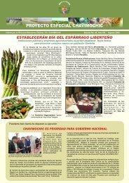 Boletin Agosto en hojas - Proyecto Especial Chavimochic