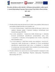 Procedura odwoławcza dla wniosków o dofinansowanie projektów ...