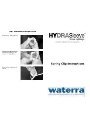 Hydrasleeve Spring Clip and Top Weight Instructions - Waterra-In-Situ