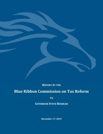 Blue Ribbon Commission on Tax Reform - Office of the Lt. Governor