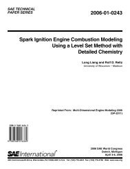 Spark Ignition Engine Combustion Modeling Using a Level Set