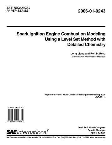 Spark Ignition Engine Combustion Modeling Using a Level Set