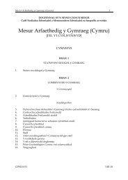 Mesur Arfaethedig y Gymraeg (Cymru) - Cynulliad Cenedlaethol ...