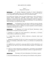 Reglamento de Carrera del Personal Administrativo