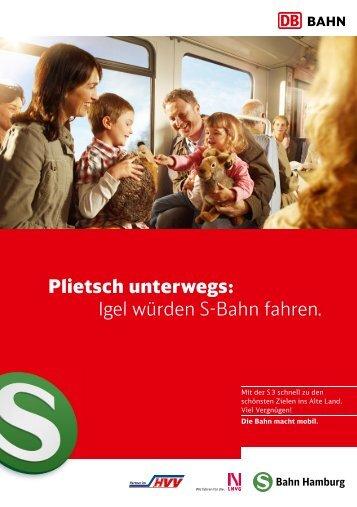 Plietsch unterwegs: Igel würden S-Bahn fahren. - S-Bahn Hamburg