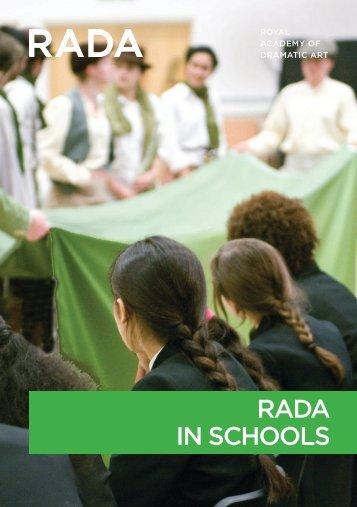 RADA in Schools brochure