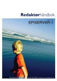 Redaktörshandbok EPiServer 4 - EPiServer World