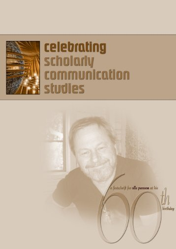 A festschrift for Olle Persson - Umeå universitet