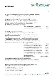 Preisliste 2013 - Co2-Sparhaus