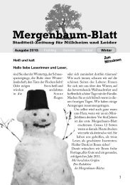 Mergenbaum-Blatt Winter 2010 - von Wolfgang Giegerich
