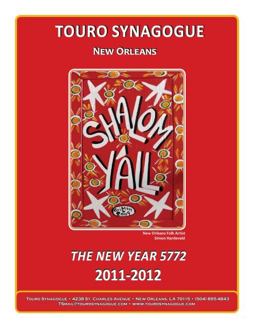 Final NEW-YEAR Bulletin 2011.indd - Touro Synagogue