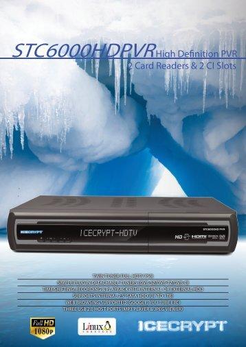 STC6000HDPVRHigh Definition PVR 2 Card Readers & 2 CI Slots