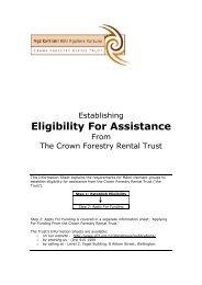 Establishing Eligibility - Crown Forestry Rental Trust