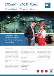 CADprofi HVAC & Piping Flyer