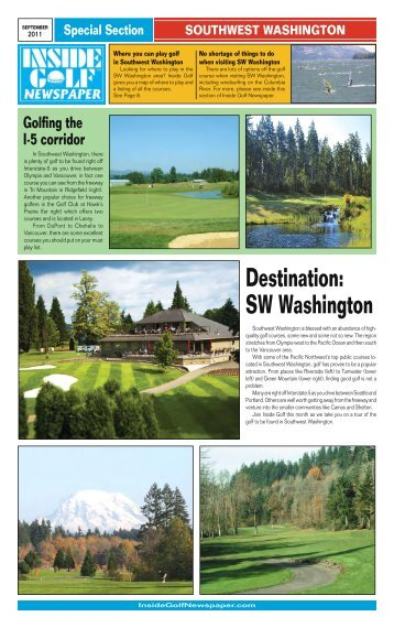 Destination: SW Washington - Inside Golf Newspaper