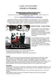 SCIENCE FICTION Albuminfo deutsch - Feline & Strange