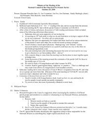 Minutes of the Meeting of the Pastoral Council of the Church of St ...