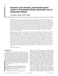 Dynamics and chemistry of dissolved organic carbon in ...