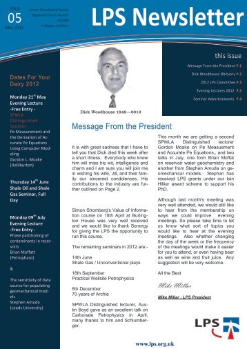 Download May 2012 Newsletter - London Petrophysical Society