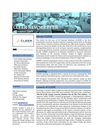 CLEER NEWSLETTER - Asser Institute