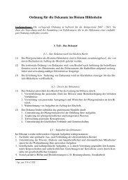 Ordnung für die Dekanate - Bistum Hildesheim