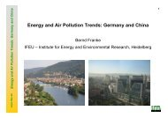 Energy and Air Pollution Trends: Germany and China